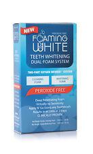 TEETH WHITENING FOAMING WHITE Dual Foaming System (2 step) PEROXIDE-FREE