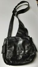Perlina New York Black Sling Bag With Adjustable Strap Excellent Condition