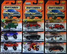 9 Matchbox 2000 TH Lot Die Cast Cars Police Fire Viper Ferrari Chevy Ford Sealed