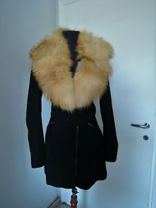 Vintage brown real red fox fur collar scarf wrap trim shawl for coat jacket