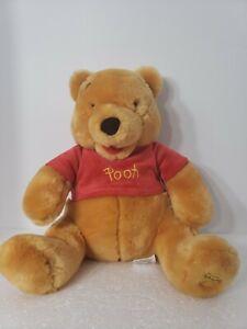 "Disney Store Winnie the Pooh Bear 12"" Plush Christopher Robbins Collectible Rare"