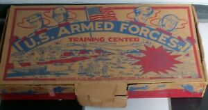 MARX US ARMED FORCES MILITARY TRAINING CENTER BOX HALF TRACK MEN TRUCK & MORE
