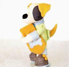 Slipper - Sewing Craft PATTERN - Cloth Felt Doll Dog Puppy