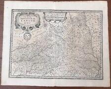 Carte La Partie Septentrionale du Languedoc Hondius 1623 Cahors Aurillac Rodez