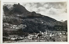 Cartolina Valle Antigorio Crodo panorama sfondo Monte Cistella VIAGGIATA