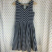 Anthropologie Saturday Sunday blue mint green striped dress size small striped