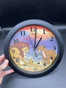 Vintage Fantasma Lion King Deluxe Moving Simba Mufasa Sarabi Wall Clock Disney