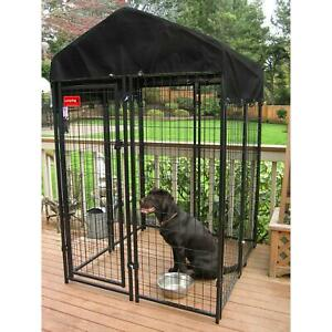 Uptown Welded Wire Dog Kennel With Cover Heavy Duty Steel With Rust Resistant