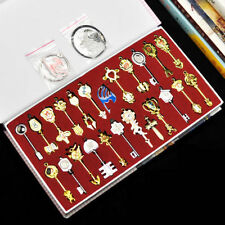 newest 25pcs Fairy Tail Lucy Cosplay Keys & Pendant Necklace Keychain +box