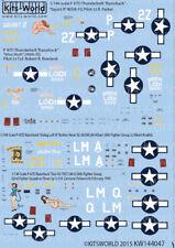 "Kits-World décalques 1/144 P - 47D Thunderbolt ""Razorback"" # 144047"