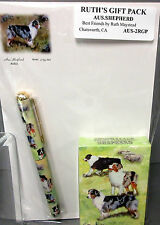New Australian Shepherd Dog Playing Card Pen Note Pad Set By Ruth Maystead Dogs