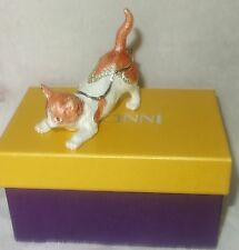 RUCINNI Collectible Swarovski Crystals CAT Trinket Jewelry box NEW IN BOX