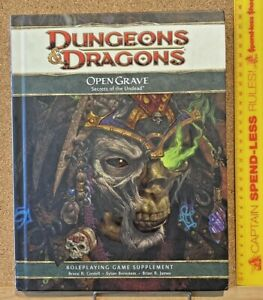 OPEN GRAVE UNDEAD ADVANCED DUNGEONS & DRAGONS 2009 HARDCOVER SOURCEBOOK EXC!