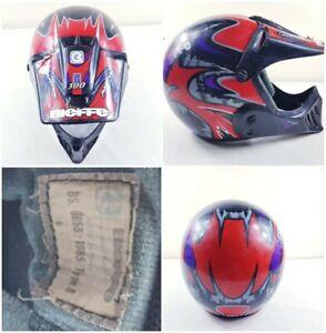 Bieffe Full Face GR-1250 motocross Helmet vintage 1985 X-LARGE made in Italy🇮🇹