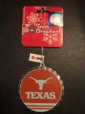 Texas Longhorns UT Metal Round Christmas/Holiday Ornament *NEW*