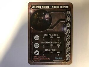 COLONIAL MARINE WITH MOTION TRACKER GAME CARD - ALIEN VS PREDATOR - PRODOS - AVP