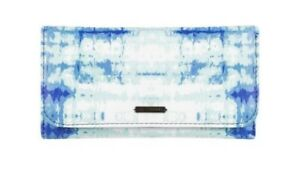 Roxy Blue Printed faux leather tri-fold design Ladies Purse Wallet Looks New