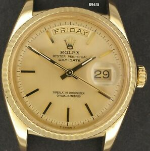 8943,  Vintage Rolex 18K 1803-8, 1968 Gold Dial, beauty. Day-Date