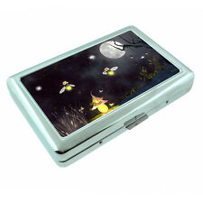 Firefilies D3 Silver Metal Cigarette Case RFID Protection Wallet Glow Bugs
