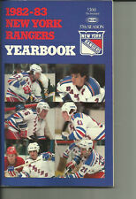 1982-83 NHL New York Rangers Yearbook Very Good
