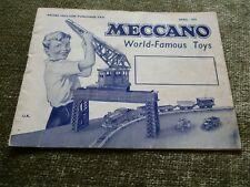 Meccano Dinky Toy Diecast Car Trains Hornby Catalogue Advertising Pricelist 1952