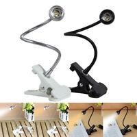 USB Flexible Reading LED Light Clip-on Beside Bed Table Desk Lamp Book Home