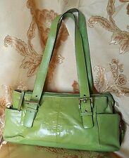 Worthinton Genuine Leather Women Bag Green Color