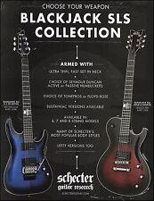 Schecter Blackjack SLS Collection C-1 FR Active Solo-6 Passive guitars 8 x 11 ad