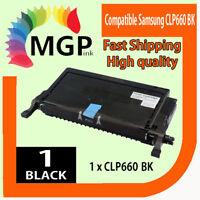 1x Compatible Black Toner CLP610 CLP660 CLP-K660B For Samsung CLP-610 CLP-660