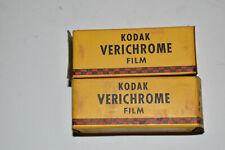 Lot of 2 Rolls of Vintage Film, EXPIRED 1950, Kodak Verichrome V116, NOS
