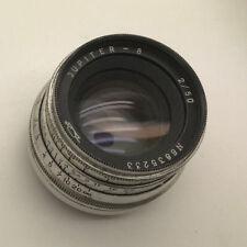 Vintage Jupiter-8 2/50mm USSR Soviet Lens w/Lens Caps