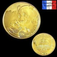 1 Pièce plaquée OR ( GOLD Plated Coin ) - 2019 Panda Chinois