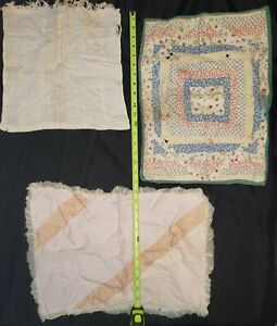 Vintage Baby Doll Blankets & Quilt - Handmade 1950s-60s