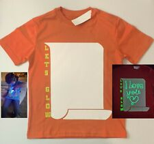Illuminated Interactive Glow in The Dark T-Shirt-Fun -Birthday Parties/Festival
