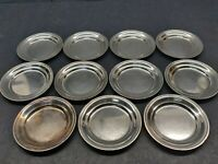 TIFFANY AND COMPANY MAKERS SILVER SOLDERED BUTTER DISHES 11 PIECES