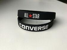 CONVERSE ALL STAR Black Blue White wristband sport silicone bracelet rubber 3D