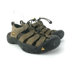 KEEN Newport Bison Brown Leather Bungee Hiking Sandals Shoes Mens Size 8