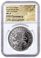 2017 Netherlands Restrike 1 oz Silver New York Lion Dollar NGC MS70 SKU52494