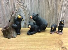 Cabin Decor Lot Of 5 Bear Figurines Different Manufacturers B7