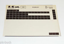 Microfich Spare Parts Catalog Kawasaki KX 250 Model 1985 Stand 12/1984