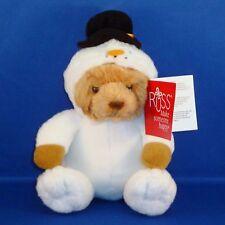 Russ - Teddy Bear Dressed as Snowman - Small Christmas Plush - Stuffed Animal