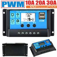 Solar Laderegler 10A 20A 30A PWM Solar Panel Solarladeregler Regulator 12V/24V