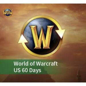 60 day Game Time World of Warcraft WOW US/NA Servers Prepaid card 2 months