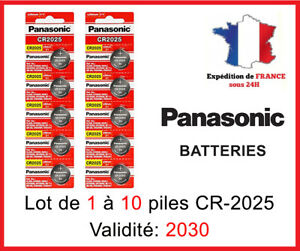 Piles Bouton CR-2025 Panasonic 3 Volt  DLC 2030