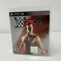 WWE 2K15 Sony PlayStation 3 PS3 Game Complete With Manual Tested