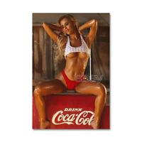 811 # Tool Box Locker Fridge Magnet Cute Sexy Girl Cola Ad. Collectible