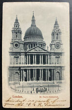 1904 Leytonstone England Picture Postcard Cover Perfin Stamp St Paul's Cathedral