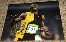 Usain Bolt Signed 11x14 Photo 2016 Rio Olympics with proof