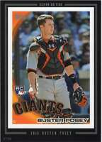 Buster Posey 2016 Topps Anthology Series 1 5X7 Silver #60 /49