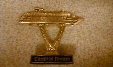 CARNIVAL CRUISE LINE SHIP ON A STICK AWARD TROPHY- CARNIVAL DREAM 15CM X 13CM